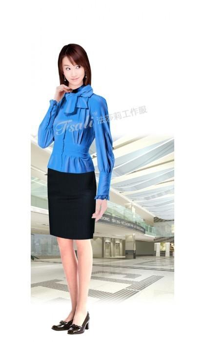 女职业装时尚短衬衫