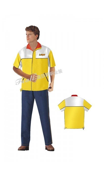 定做快餐厅男装制服