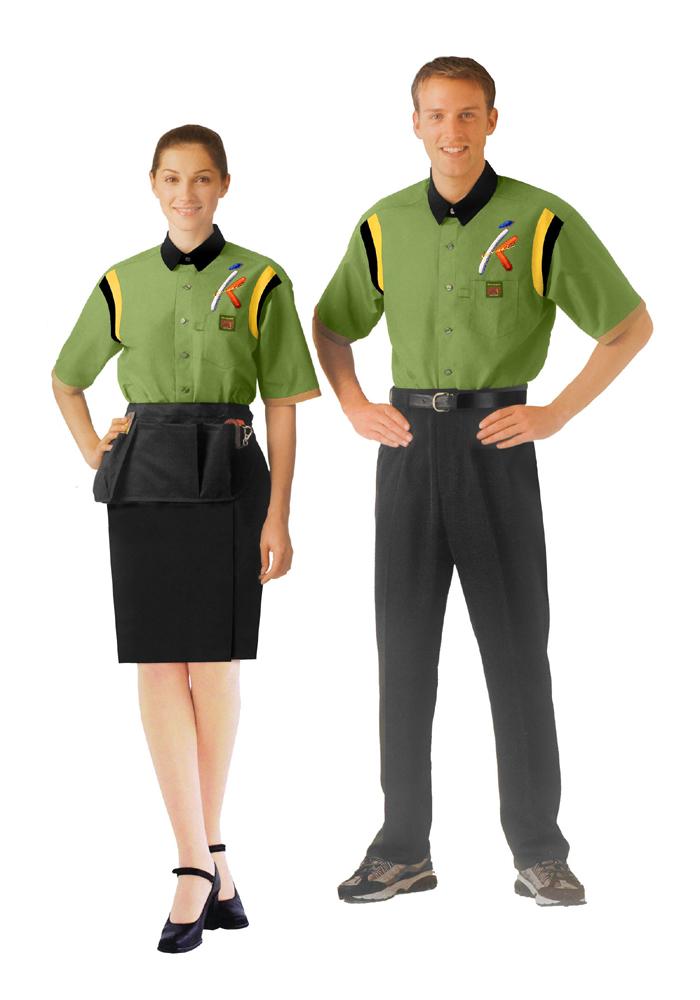 北京专业定做餐厅服务员服装