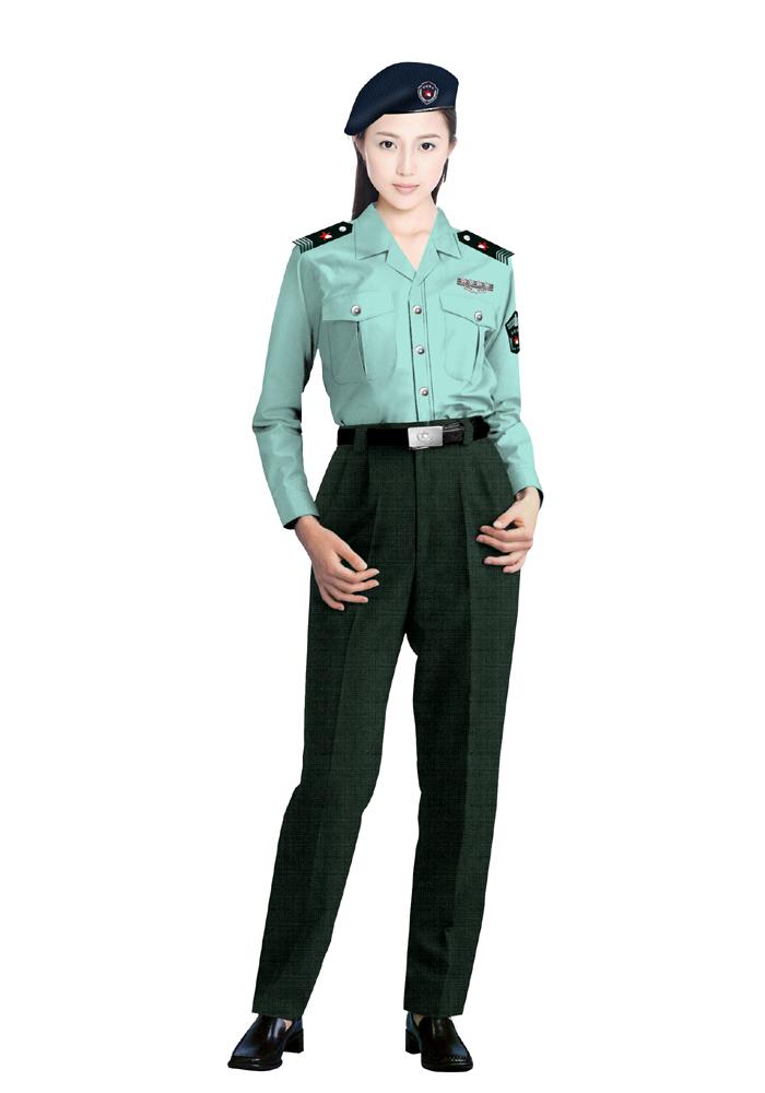 保安女衬衫