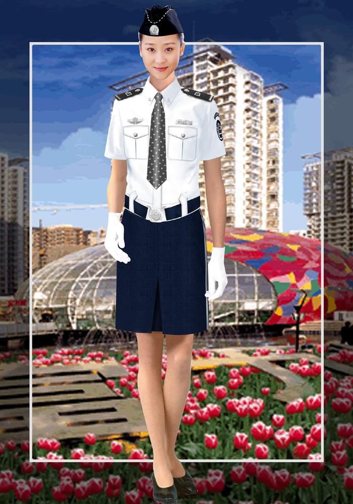 女保安夏装制服