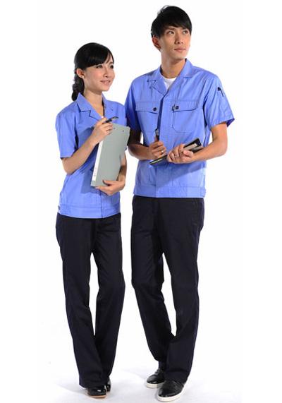 浅蓝色工作服