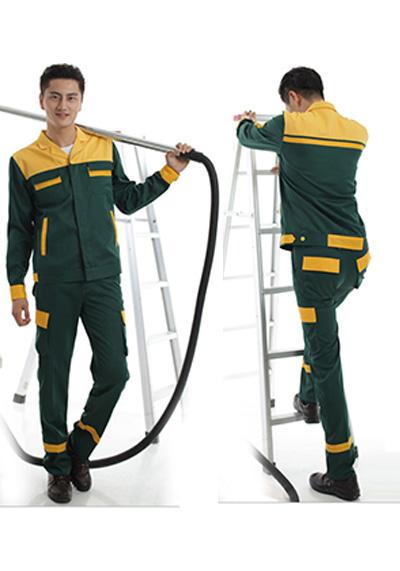黄绿工作服