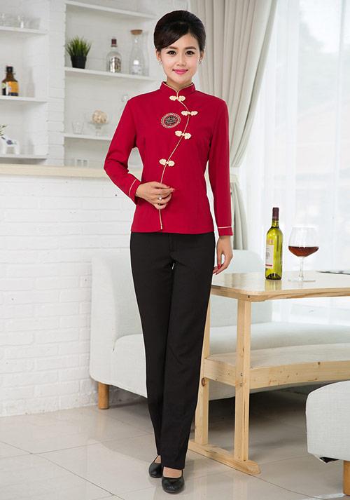 高级定做餐厅服务员服装