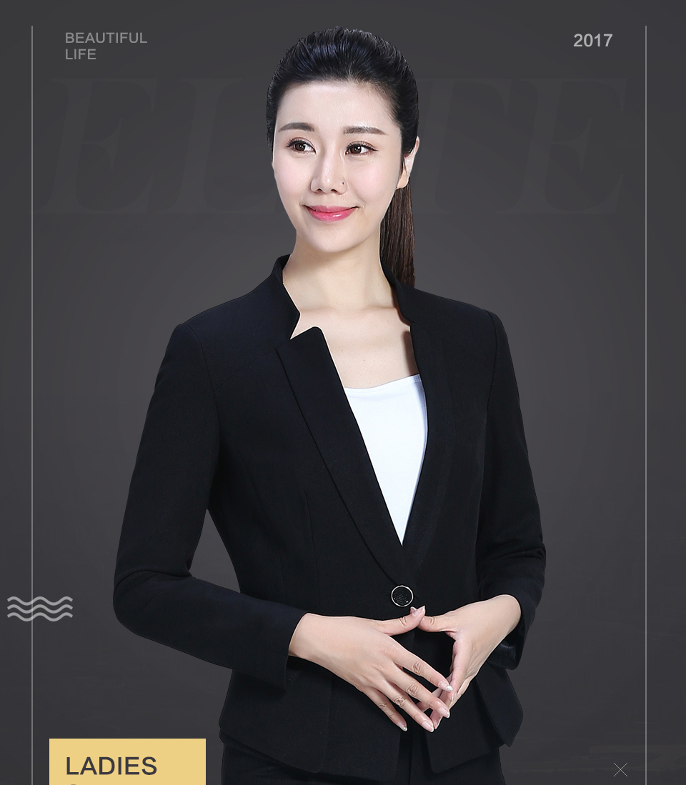 黑色修身时尚职业套装FX07
