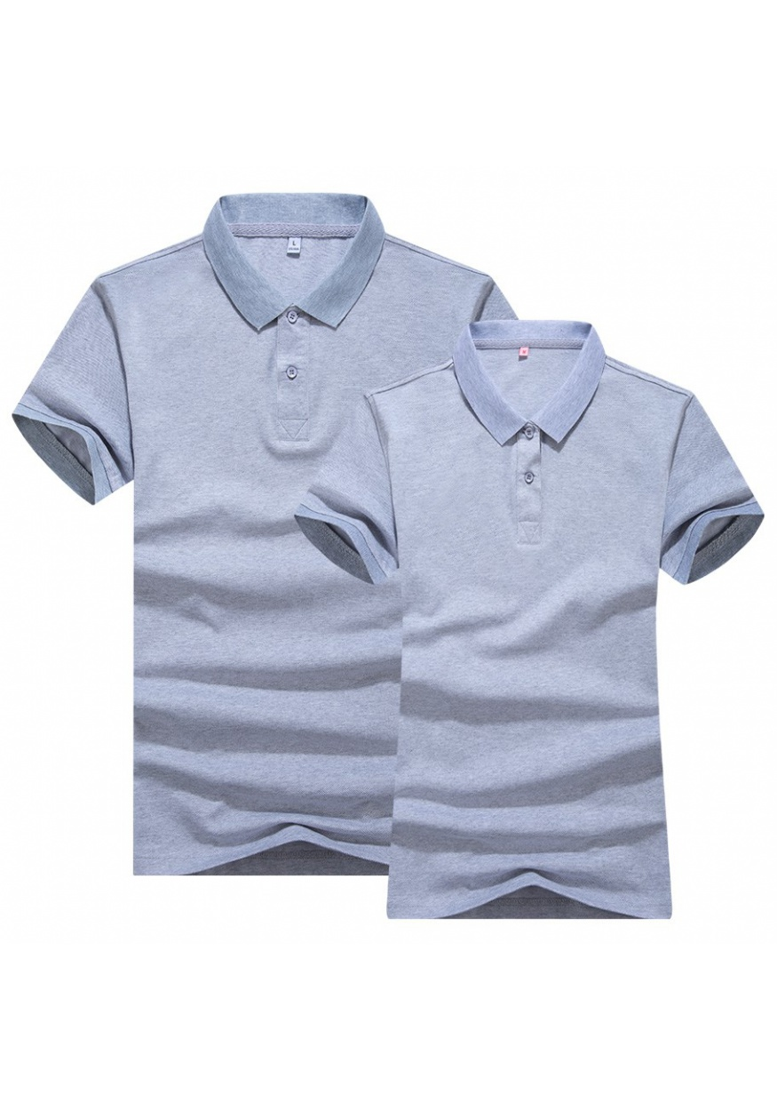 白色双色丝光POLO衫T恤