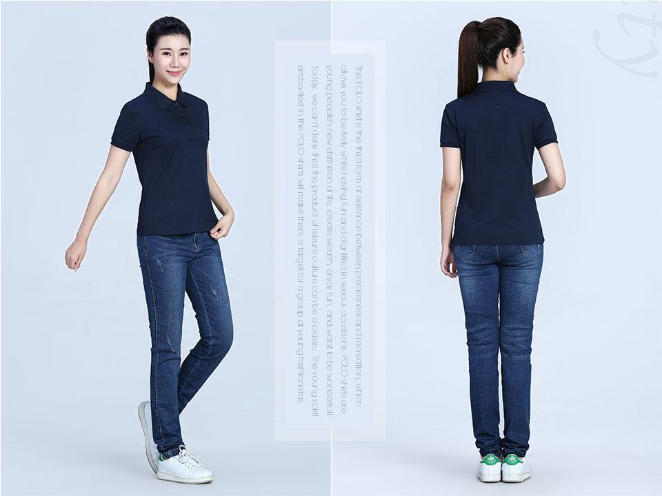 新款麻灰双色丝光POLO衫T恤