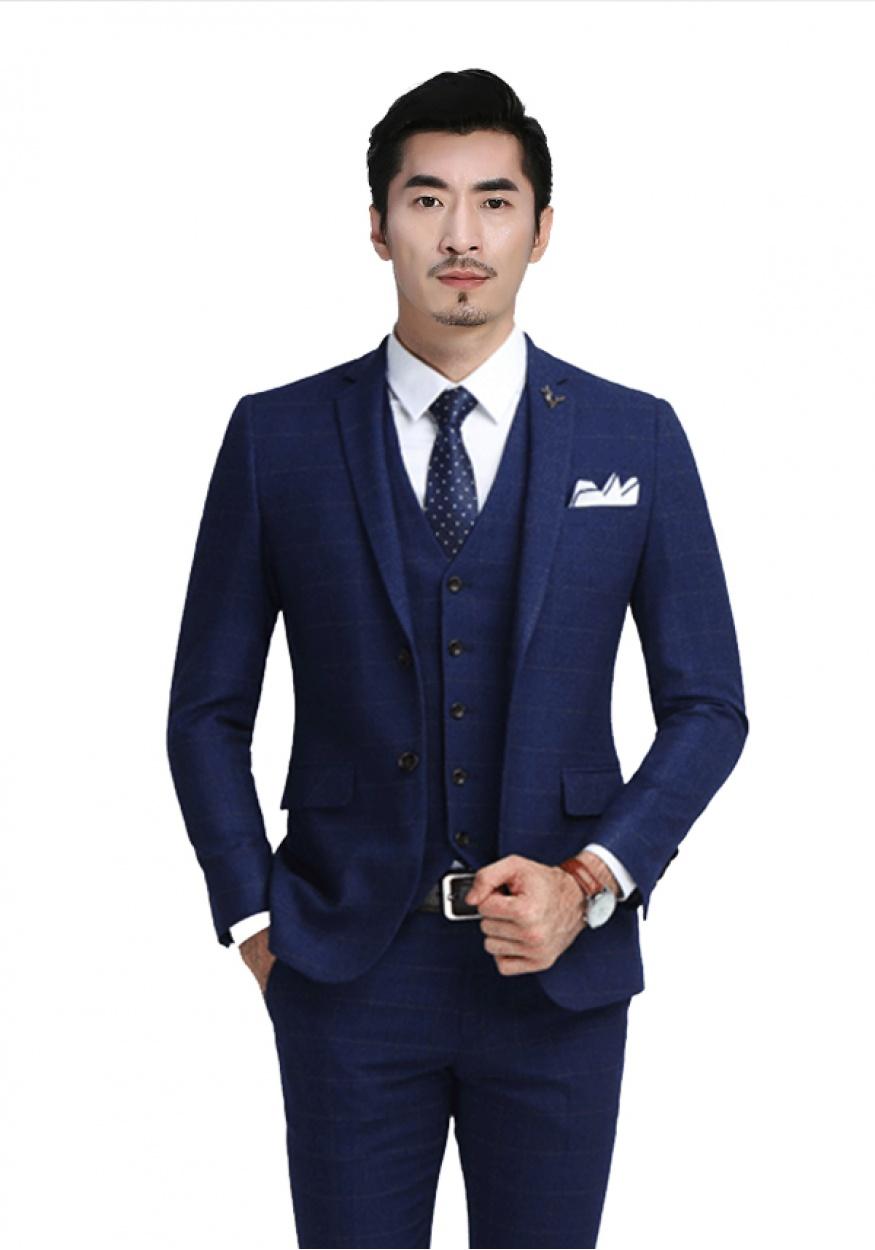 新款蓝色商务男士西装